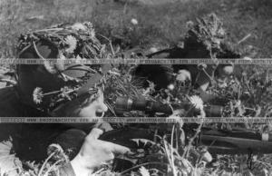 Снайпер-красноармеец В.Зубанов04,06,1942